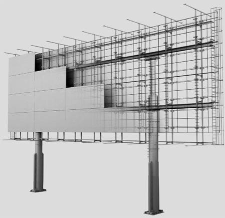 Установка рекламных конструкций наулицах города