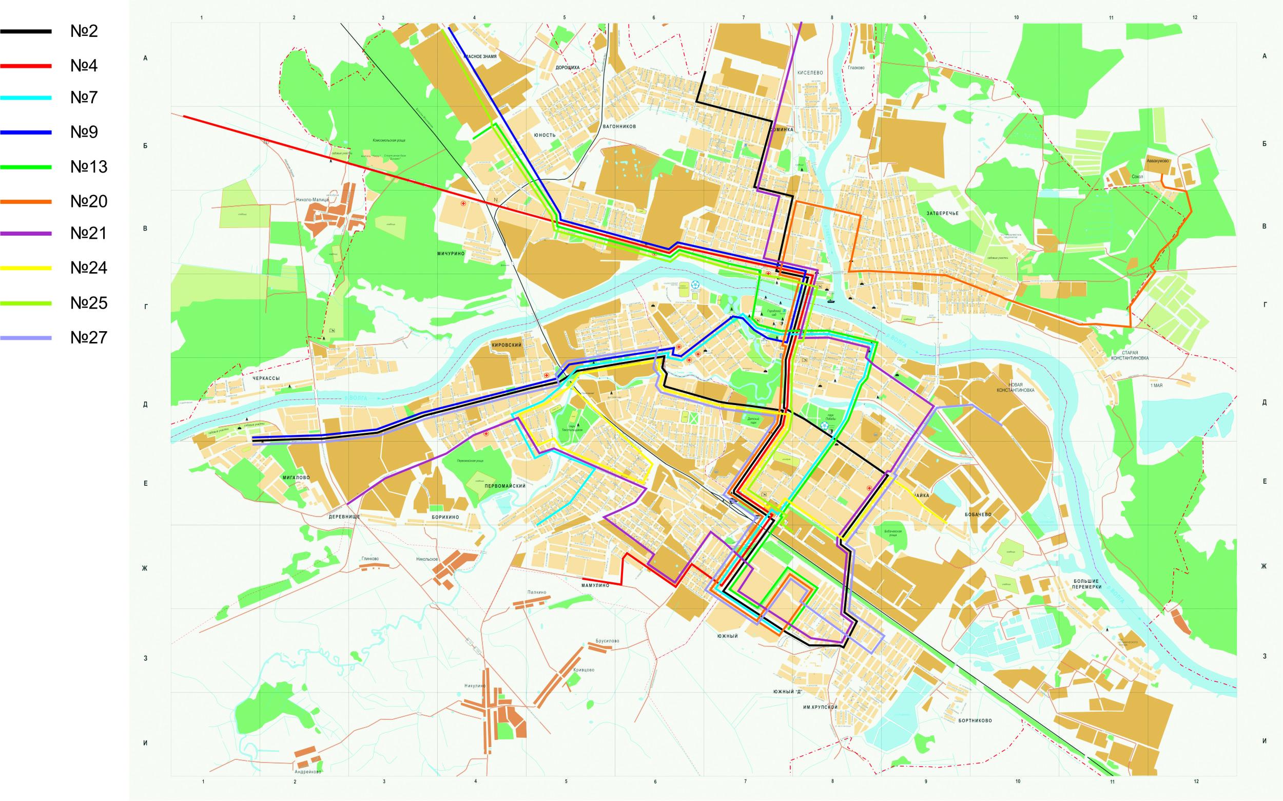 Схема движения маршрутки 6 тверь